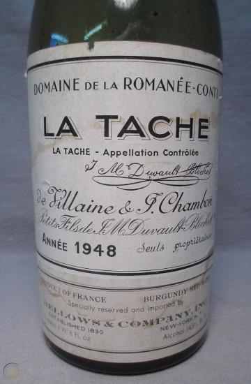Domaine de la Romanee-Conti La Tache 1948 года