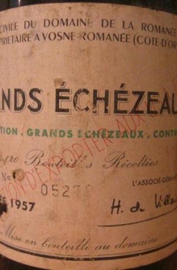 Domaine de la Romanee-Conti Grands Echezeaux 1957 года
