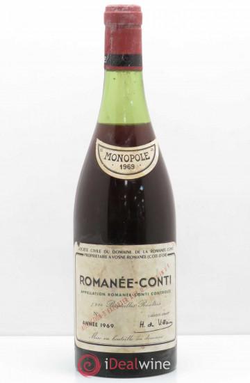 Domaine de la Romanee-Conti 1969 года