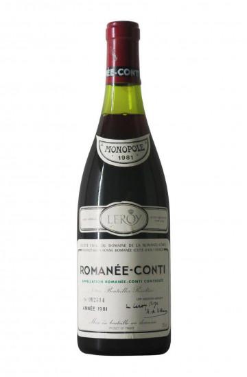 Domaine de la Romanee-Conti 1981 года