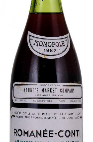 Domaine de la Romanee-Conti 1982 года