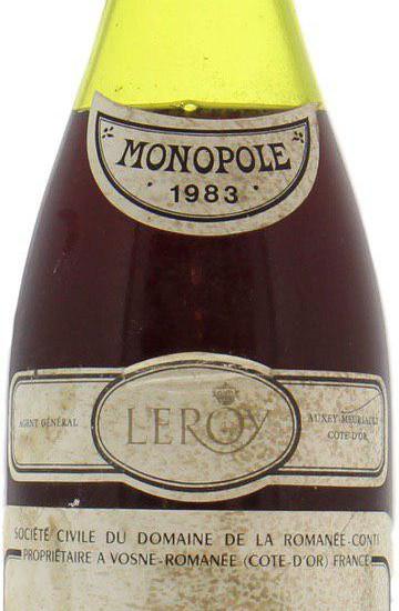 Domaine de la Romanee-Conti 1983 года