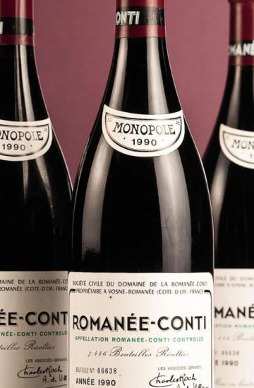 Domaine de la Romanee-Conti 1990 года