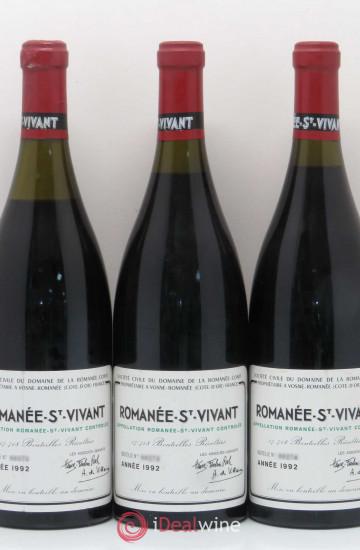 Domaine de la Romanee-Conti Saint-Vivant 1992 года