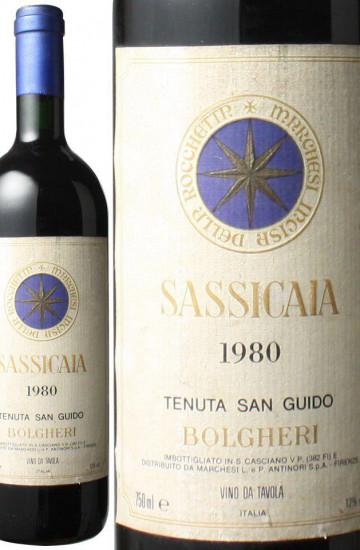 Bolgheri Sassicaia 1980 года