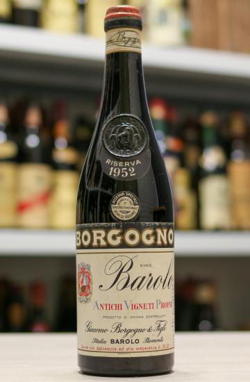 Вино Barolo Riserva Giacomo Borgogno & Figli 1952 года