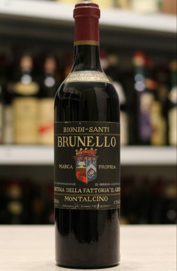 Вино Brunello Di Montalcino Riserva Biondi Santi 1955 года