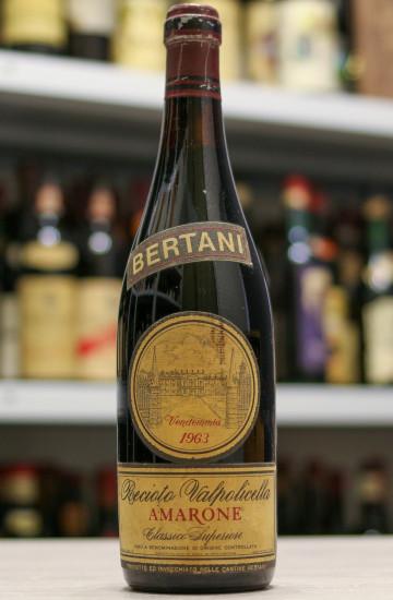 Вино Recioto della Valpolicella Amarone Bertani 1963 года