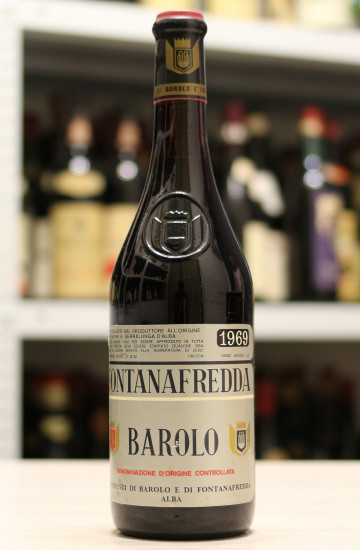 Вино Barolo Fontanafredda 1969 года